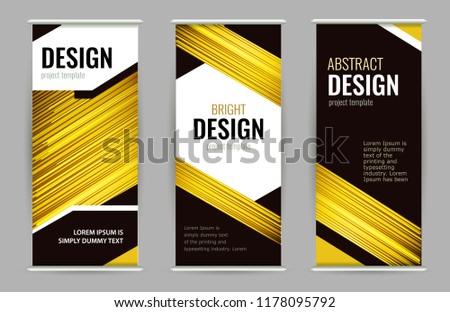 banner · zwarte · 3D · gerenderd · afbeelding · presentatie - stockfoto © ganpanjanee