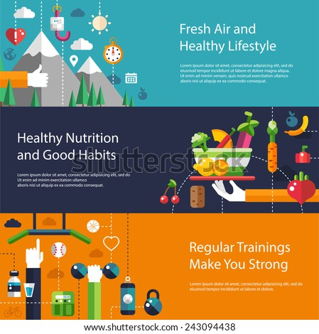 fitness gym and healthy lifestyle flat silhouettes vector icons stock photo © vectorikart