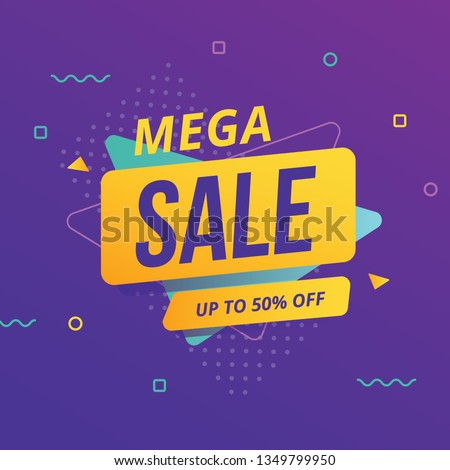 super sale offer template for advertising with geometric colorfu Stock photo © SArts