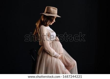 Gyönyörű fiatal barna hajú visel fekete melltartó Stock fotó © deandrobot
