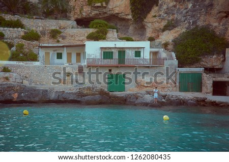 little fishermen town on mallorca island in mediterranean sea spain stock photo © xantana