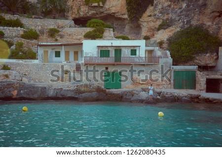 Little fishermen town on Mallorca island in Mediterranean sea, Spain Stock photo © Xantana