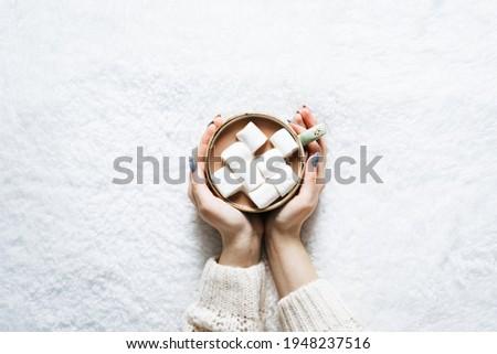 chocolate · caliente · cerámica · taza · canela · blanco - foto stock © Yatsenko