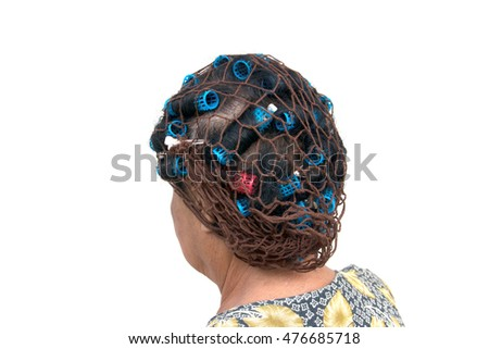 Beautiful bride with hair curlers on her head at home Stock photo © wavebreak_media