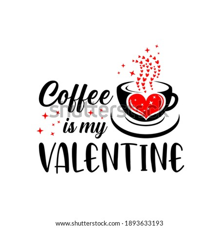 'I love coffee' text with red heart. T-shirt print design templa Stock photo © pashabo