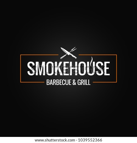 Butcher. Chef and knife for meat. Steak House cook. Vector illus Stock photo © popaukropa