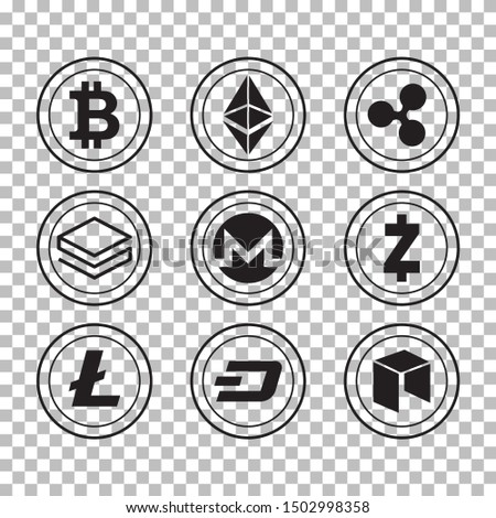 digital vector bitcoin etherium cryptocurrency blockchain detail stock photo © frimufilms