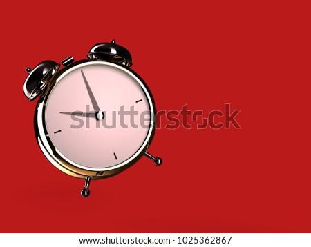クローズアップ 表示 目覚まし時計 赤 10 ストックフォト © Nobilior