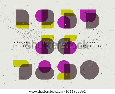 Elegant only retro chic font of numbers in neoclassical didot or didone style. Modern numeral symbol Stock photo © ussr