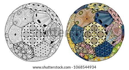 Zentangle stylized soccer ball. Hand Drawn lace vector illustration Stock photo © Natalia_1947
