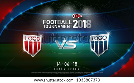 World Championship Football 2018 Background Soccer Russia with flag and football ball. Vector illust Stock photo © m_pavlov