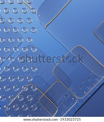 patroon · koud · Blauw · vorm · frame - stockfoto © artjazz
