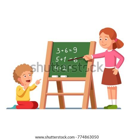 écolier craie école bord vecteur isolé Photo stock © pikepicture