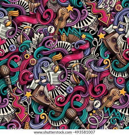 kleurrijk · kunst · abstract · doodle · muziek · illustratie - stockfoto © Linetale