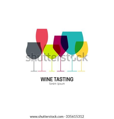 wine tasting badge winery logo template drink alcoholic monochrome art beverage symbol vine ico stock photo © jeksongraphics