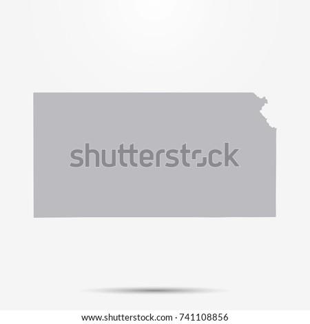 mapa · Kansas · estilo · projeto · ícone - foto stock © kyryloff