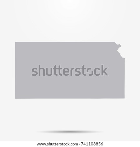 Mappa Kansas stile design icona Foto d'archivio © kyryloff