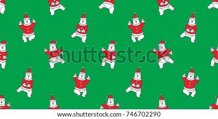 Karácsony végtelen minta sarki medvék hóember fagyöngy Stock fotó © balasoiu