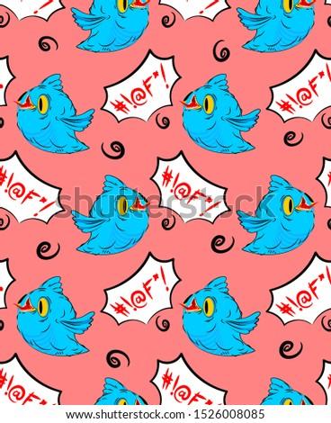 Niebieski ptaków słowa ptaszyna język Zdjęcia stock © MaryValery