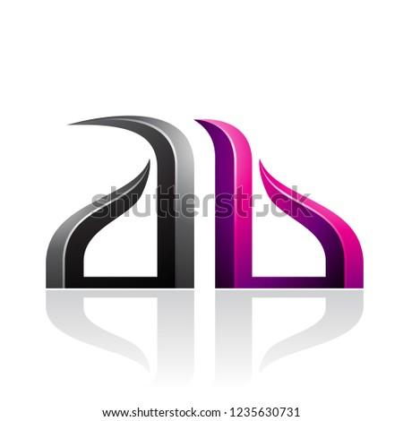 Magenta nero lettera vettore illustrazione isolato Foto d'archivio © cidepix