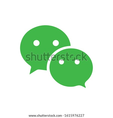 Wechat logo, symbol. Web icon comments color. Messenger icon Vector illustration Stock photo © MarySan