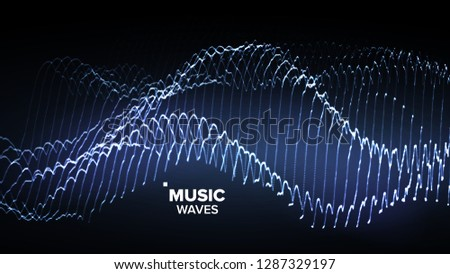 Music Background Vector. Glitch Network. Electro Party. 3D Illustration Stock photo © pikepicture