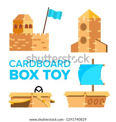 Foto stock: Cartão · brinquedo · vetor · recreio · atividade · caixa