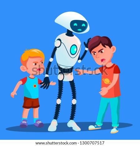 робота отдельно два мальчики дети Сток-фото © pikepicture