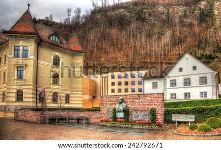 Standbeeld componist gebouw stad muur Stockfoto © boggy