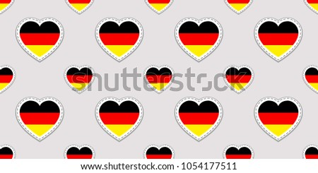 Simple vector symbols Welcome to Germany with German flag, modern German icon isolated on white back Stock photo © kurkalukas