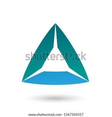 Verde azul triángulo vector aislado blanco Foto stock © cidepix