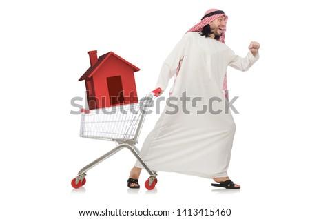 Construcción negocios árabe empresarios caucásico apretón de manos Foto stock © pikepicture