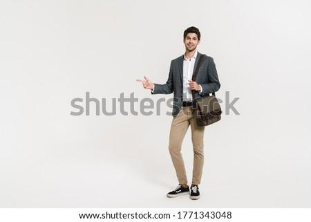 Stock fotó: Teljes · alakos · fotó · jóképű · üzletember · 30-as · évek · hivatalos