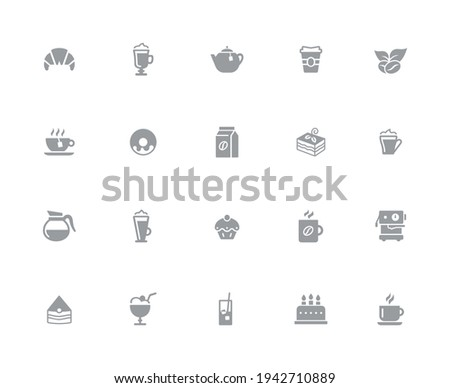 bevande · icone · bianco · vettore · lavoro · pixel - foto d'archivio © Palsur