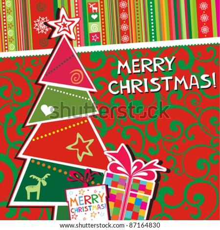 plantilla · de · diseño · invierno · ataviar · forestales · Navidad · folleto - foto stock © orensila