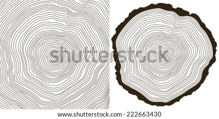 Vector wood texture of growth rings from a slice of tree. Cool gradient wood texture stamp . Stock photo © kyryloff