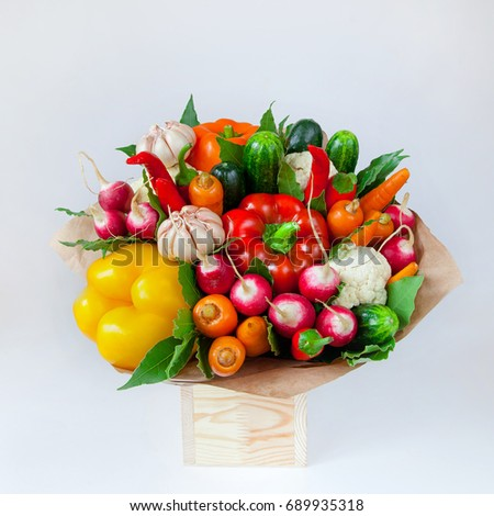 букет овощей плодов полезный подарок Сток-фото © galitskaya