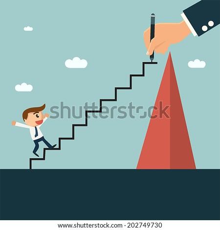 üzlet elhatározás fejlesztés vektor metaforák javulás Stock fotó © RAStudio