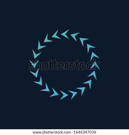 Counter Clockwise arrows in Circle, shows the motion. Stock Vector illustration isolated on blue bac Stock photo © kyryloff