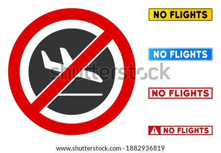 Forbidden sign with crossed out plane on the background of Ukrainian flag. Stock photo © artjazz