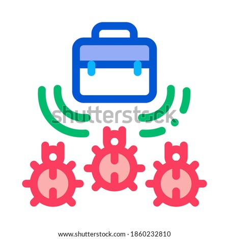 bugs for listening in briefcase icon vector outline illustration Stock photo © pikepicture