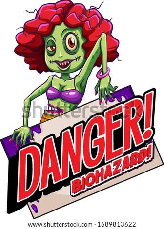 Betűtípus terv szó veszély bioveszély zombi Stock fotó © bluering