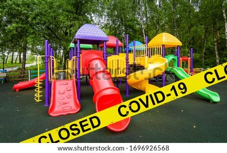 COVID-19 Coronavirus Quarantine Yellow Warning Sign Illustration Stock photo © enterlinedesign