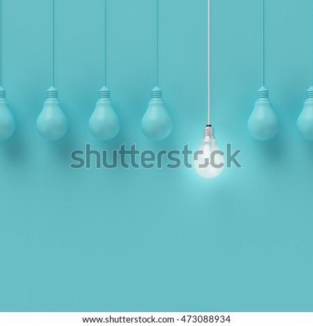 Yaratıcı fikir ışık lamba biçim ilham Stok fotoğraf © designer_things