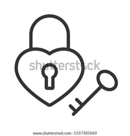 Vector corazón ojo de la cerradura icono stock aislado Foto stock © kyryloff