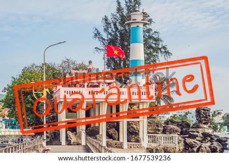 Quarantine due to coronavirus epidemic covid19 Dinh Cau lighthouse symbol of the island Phu Quoc, Vi Stock photo © galitskaya