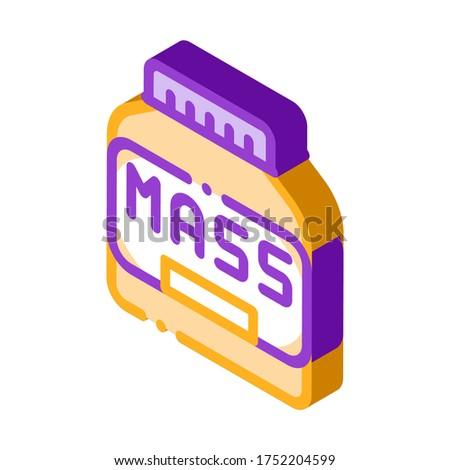 Massa fles sport voeding isometrische icon Stockfoto © pikepicture