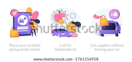 Place your curbside pickup order online abstract concept vector illustration. Stock photo © RAStudio