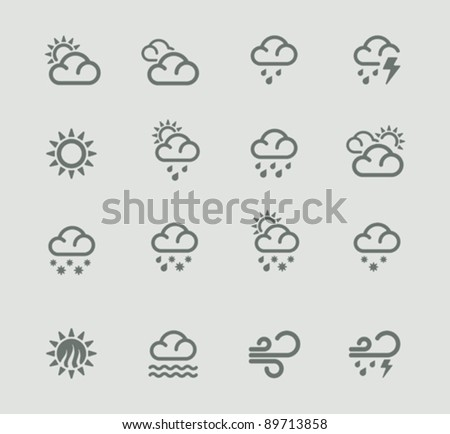 Nuvens ícone tempo isolado teia nuvem Foto stock © Imaagio