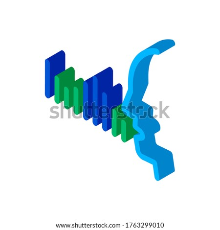 Human Voice Diagnostics Control isometric icon vector illustration Stock photo © pikepicture